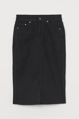 H&M Denim Pencil Skirt - Black