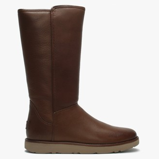 UGG Abree Brown Leather Twinfaced Calf Boots