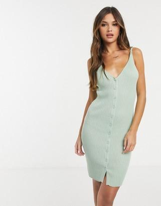 Ivyrevel button through midi dress in mint green