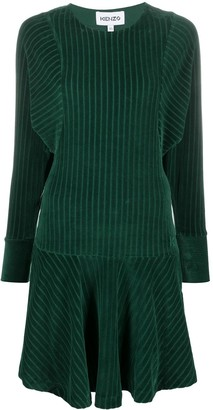 Kenzo Striped Sweatshirt Mini Dress
