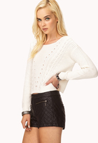 Forever 21 Favorite Cable Cropped Sweater