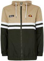 Topman Ellesse Khaki And Stone Stripe Jacket