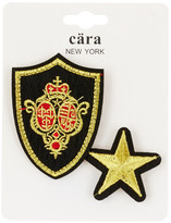 Cara Accessories Star & Crest Pin - Set of 2