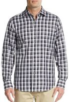 Saks Fifth Avenue Regular-Fit Buffalo Check Cotton Sportshirt
