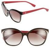 Fendi Women's 55Mm Retro Sunglasses - Brown/ Red