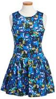 Milly Minis Girl's Jewel Print Drop Waist Dress