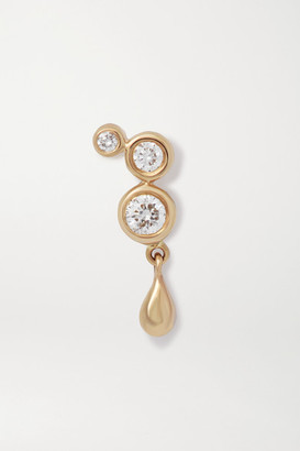 Maria Black Royal Gold Diamond Earring - one size
