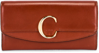 Chloé C Clutch in Sepia Brown | FWRD