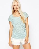 Maison Scotch Burnout Effect Mint T-Shirt