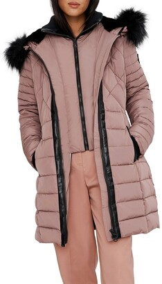 Noize Milia Heavyweight Faux Fur Trimmed Quilted Parka