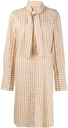 J.W.Anderson Checked Shirt Dress
