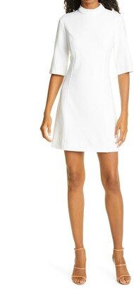 Alice + Olivia Coley Mock Neck A-Line Minidress