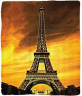Nalahome 1 Fleece Blanket on Amazon Super Silky Soft All Season Super Plush Eiffel Tower Decor for Paris Love City Monument inunrise Picture Design Cityscapetyle Fabric Gold Orange - ??