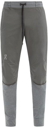 On Ripstop And Stretch-jersey Track Pants - Grey