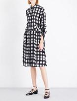 Preen Line Uri checked crepe dress