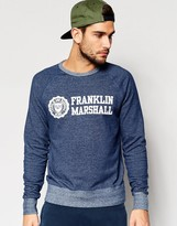 Franklin And Marshall Crew Neck Sweatshirt With Chest Logo