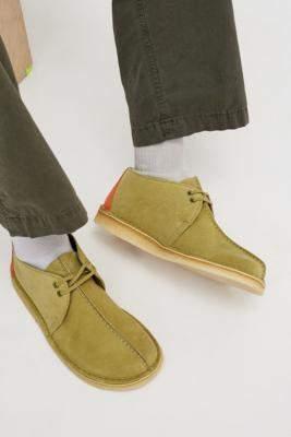 Clarks Khaki Desert Trek Boots - green UK 7 at Urban Outfitters