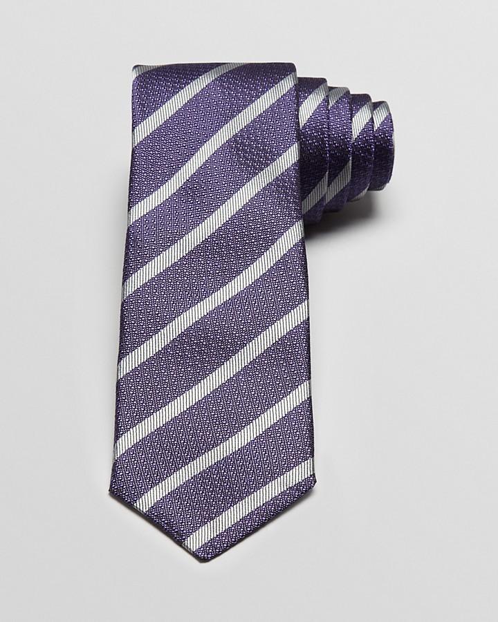 John Varvatos Ribbon Stripe Skinny Tie