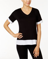 DKNY Contrast-Trimmed Pajama Top, A Macy's Exclusive Style