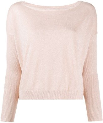 Liu Jo Glittery Wide-Neck Jumper
