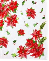 April Cornell Poinsettia Breakfast Tablecloth