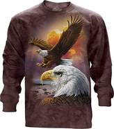 The Mountain Eagle and Clouds USA Long Sleeve T-Shirt