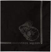Alexander McQueen Skull-jacquard silk pocket square