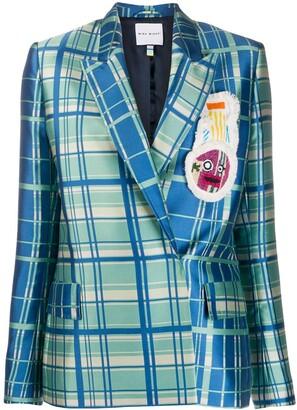 Mira Mikati Double Breasted Check Print Blazer