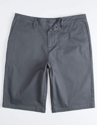 Valor Long Charcoal Mens Chino Shorts