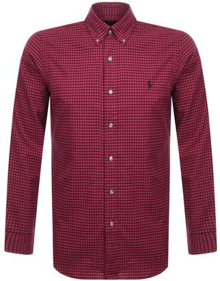 Ralph Lauren Long Sleeved Twill Shirt Red
