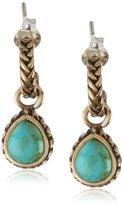 "Barse Basics"" Genuine Turquoise Half Hoop Earrings"