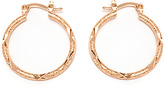 Sweet & Soft Gold Diamond-Cut Hoop Earrings