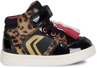 Geox Baby's Faux Fur-Trim Sneakers