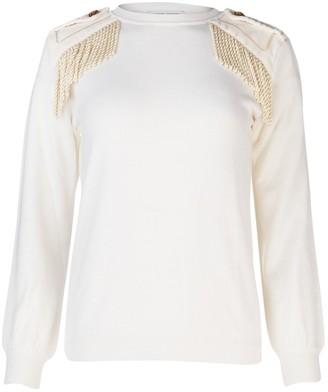 Alberta Ferretti Fringed Detail Sweater