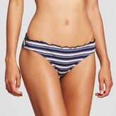 Mossimo Women's Eyelet Stripe Ruffle Edge Cheeky Bikini Bottom