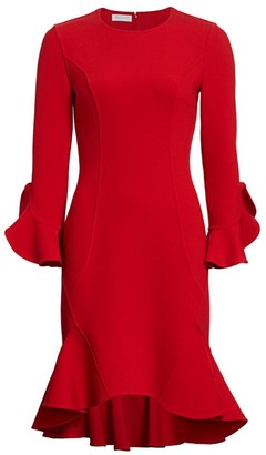 Michael Kors Flounce Midi Dress
