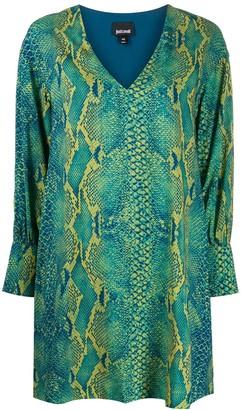 Just Cavalli snakeskin print mini dress