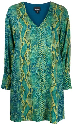Just Cavalli Snakeskin Print Mini Dress