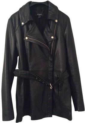 Muu Baa Muubaa Black Leather Coat for Women