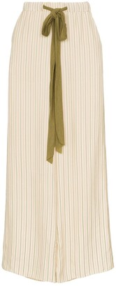 Esteban Cortazar Striped Wool-Blend Drawstring Trousers