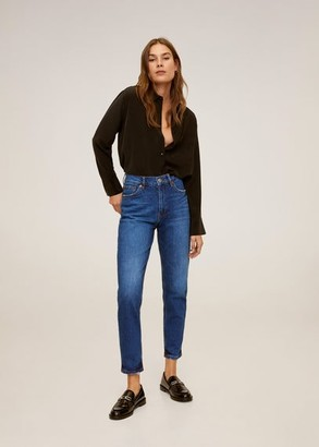 MANGO Mom-fit jeans dark blue - 2 - Women
