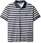 Nautica Men's Big-Tall Striped Polo Shirt