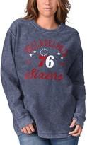 G Iii Women's G-III Sports by Carl Banks Navy Philadelphia 76ers Slouchy Comfy Cord Crewneck Pullover Sweatshirt