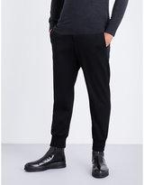 Neil Barrett Black Ribbed Formal Dropped-crotch Neoprene Trousers
