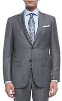 Ermenegildo Zegna Trofeo Wool Windowpane Suit, Blue/Gray