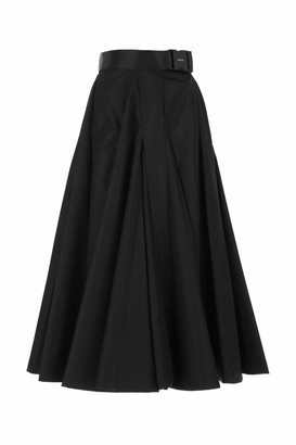 Prada Re-Nylon Belted Midi Skirt