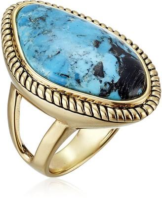 "Barse Basics"" Genuine Turquoise Abstract Ring Size 7"