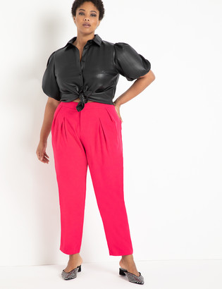 ELOQUII Pleat Detail Trouser