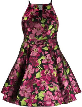 Twin-Set Sleeveless Flared Floral Dress