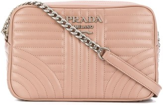 Prada Diagramme quilted crossbody bag